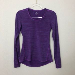 Athleta | Purple Striped Long Sleeve